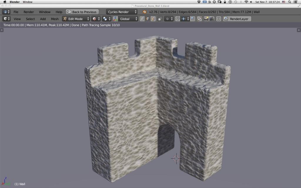 Blender Stone Wall 3