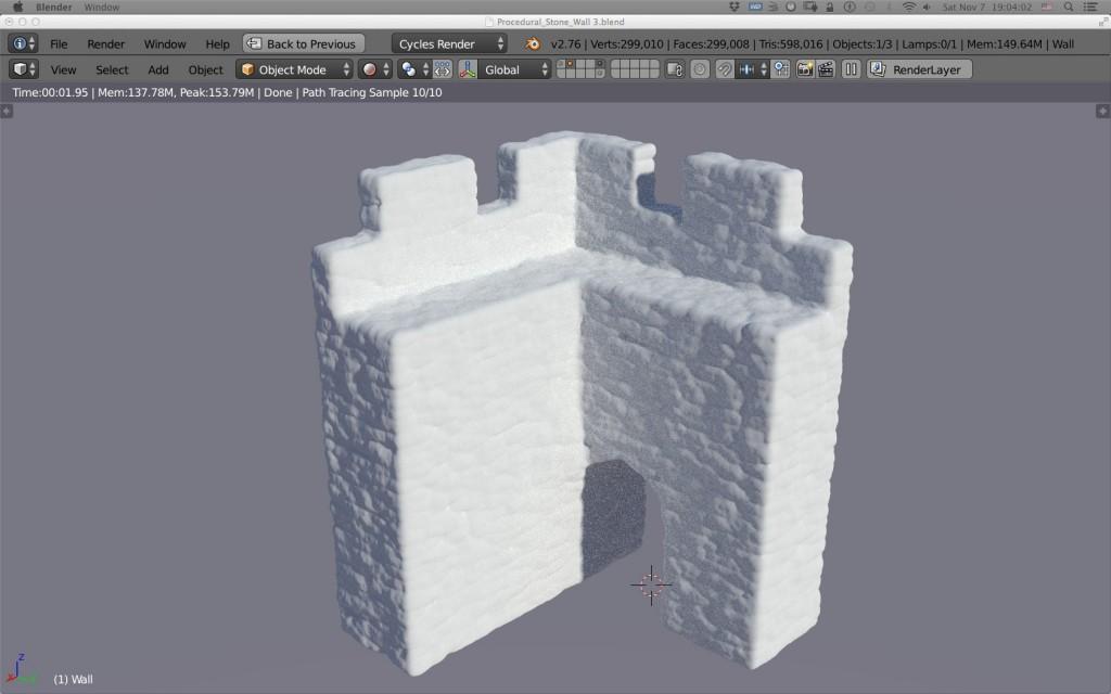 Blender Stone Wall 4