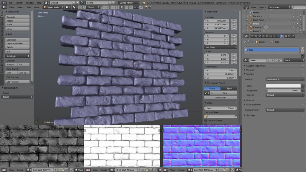 Qumran Bricks Sculpt Test 1