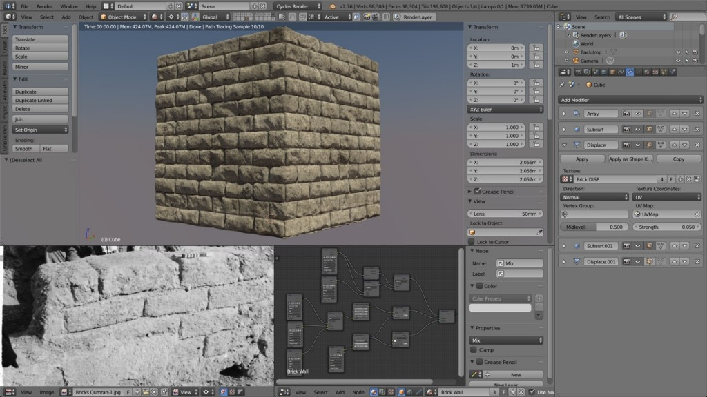 Qumran Bricks Sculpt Test 2