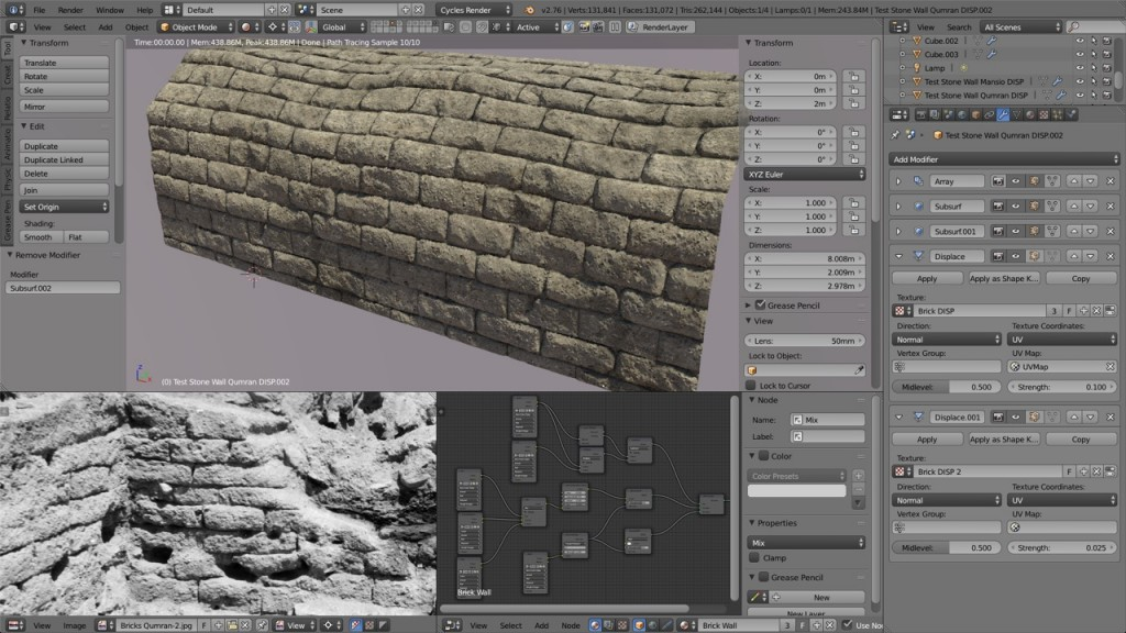 Qumran Bricks Sculpt Test 3